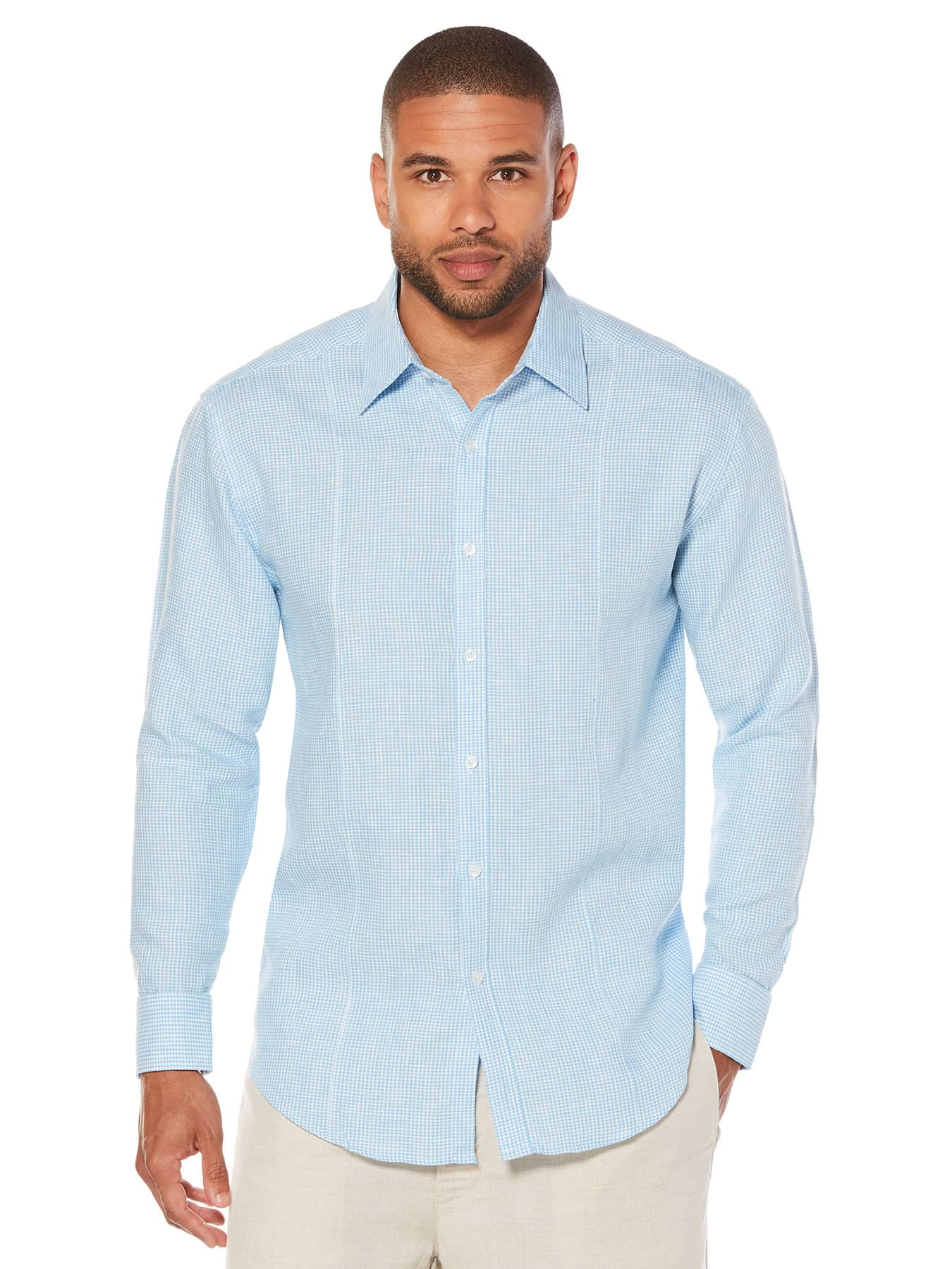 Cubavera 40% off Sitewide + Extra 20% off Coupon: Men's 100% Linen Pants $19, Linen Short Sleeve Shirt $19, Linen Long Sleeve Shirt $23.99, Gingham 2-Pocket Guayabera $26 & more