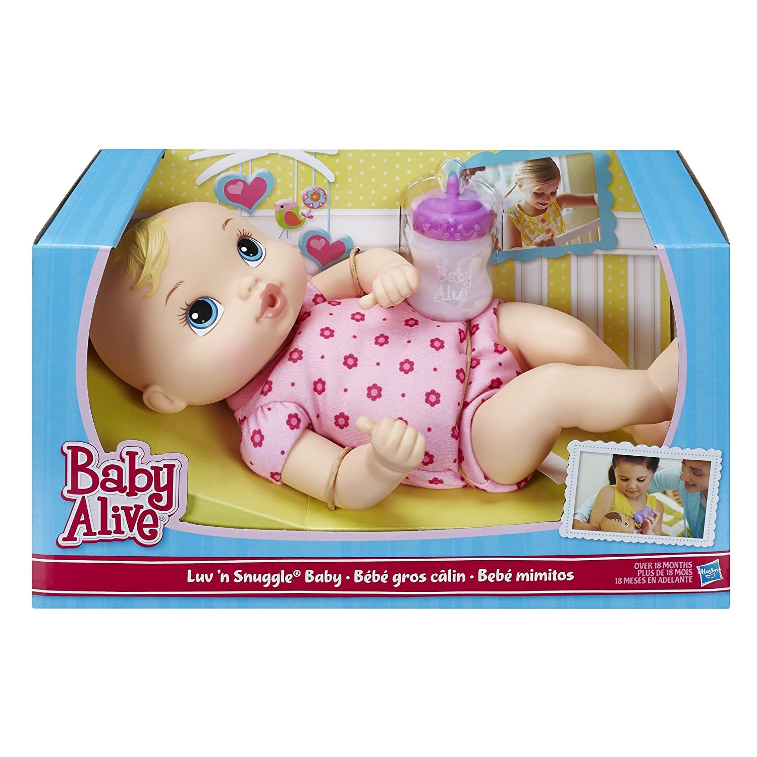 Baby Alive Luv 'n Snuggle Baby (Blonde or Brunette) for $6.74 + Free Shipping