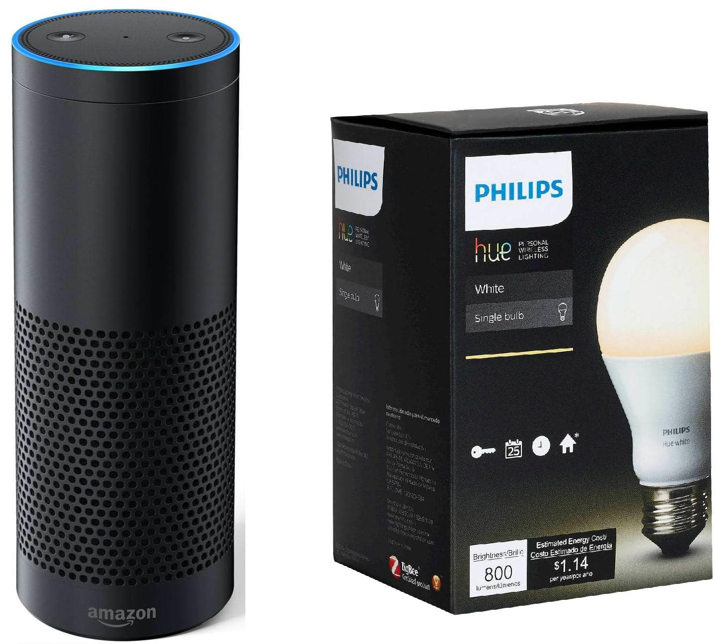amazon echo plus philips hue bulb. Black Bedroom Furniture Sets. Home Design Ideas