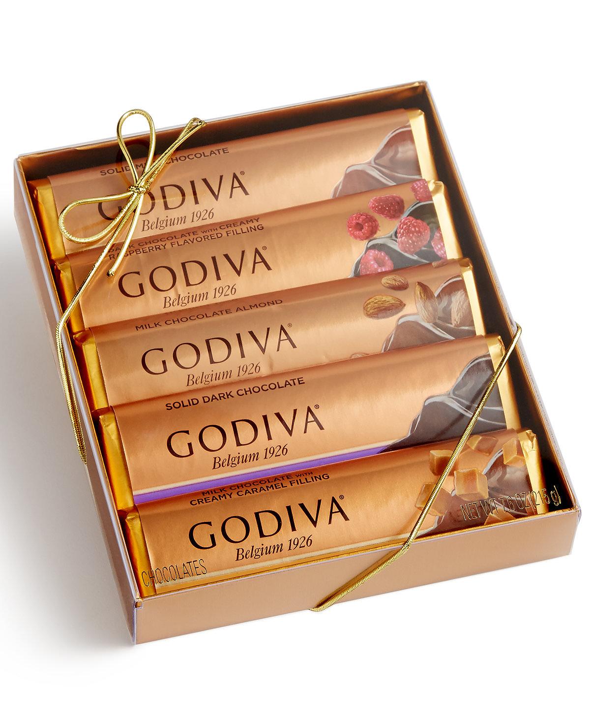 Godiva 5 bar chocolate gift pack for Go diva