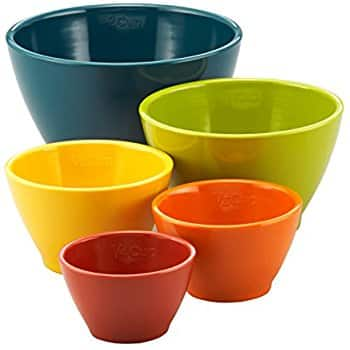 Set of 5 Rachael Ray Colorful Melamine Nesting Measuring Cups $10.49 at Amazon or Walmart