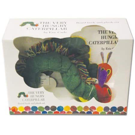 Book + Plush Toy: The Very Hungry Caterpillar Board Book + Caterpillar Plush $5.93