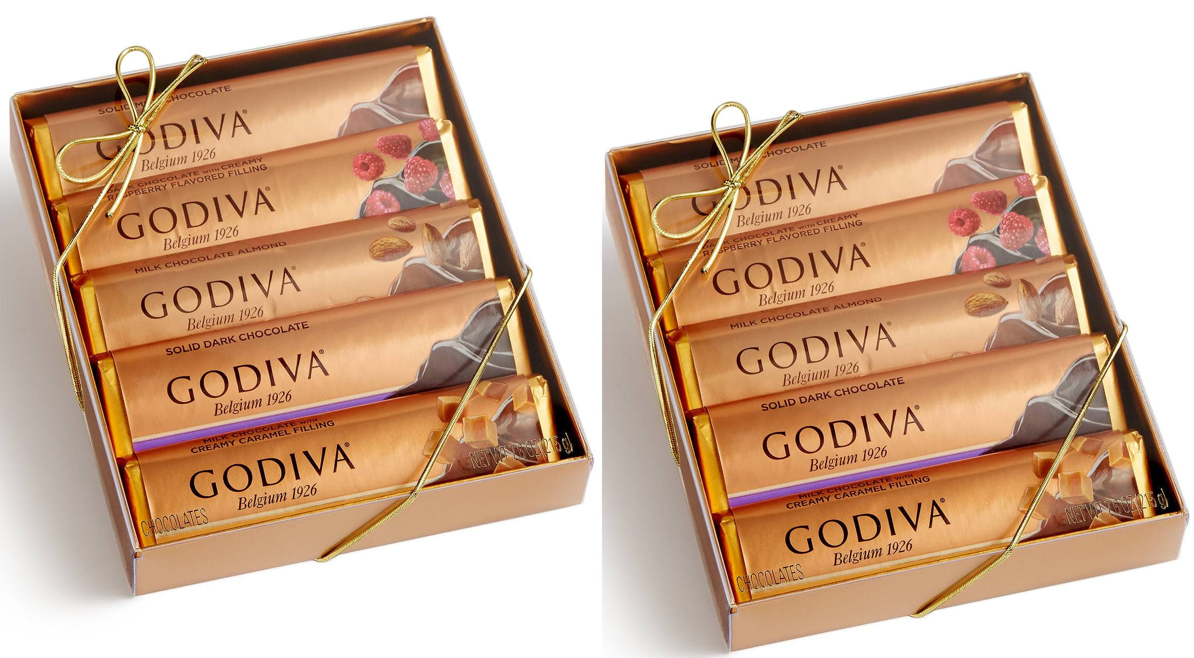 Godiva 10-Bars of Chocolate (Two 5-Bar Gift Sets) for $15.98 at Macy's (pick up in store or FS w/ beauty item)