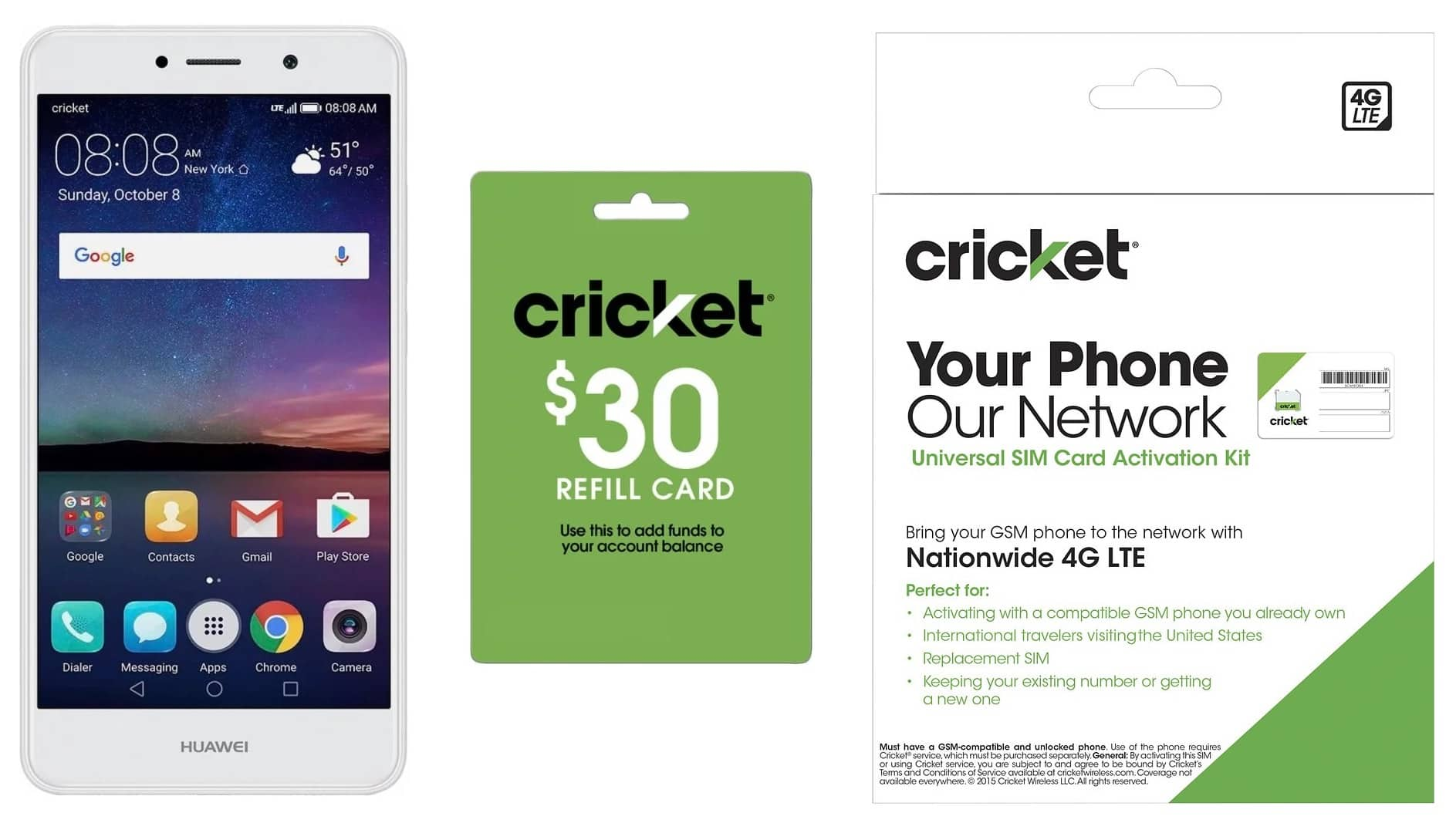 16gb Huawei Elate Cricket Wireless Prepaid Phone 30