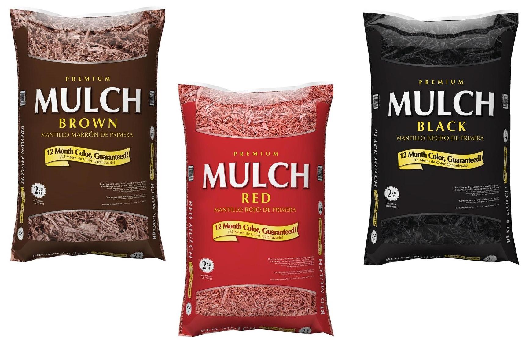 Bags Of Mulch In Yard Confederated