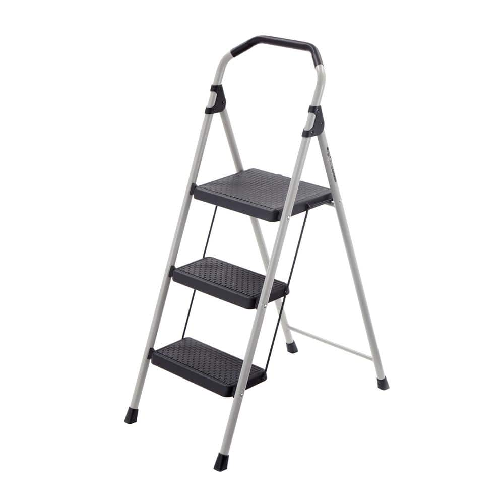 Gorilla 3 Step Lightweight Steel Step Stool Ladder