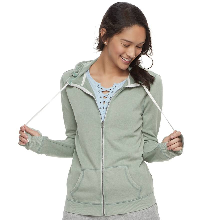 Juniors' SO Zip-Up Hoodie 3 for $22 ..or.. 2 Hoodies + 2 Yoga Shorts $24 + Free Shipping *Kohl's Cardholders*