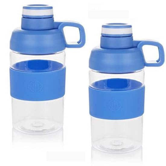 2-Pack of Tritan Water Bottles (17oz) w/ Double Latch Lids for $3.49 + Free Shipping