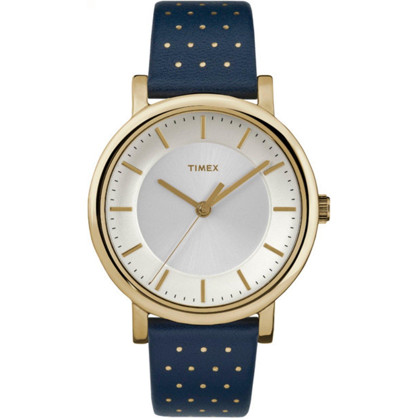TIMEX Women's Originals 38mm Blue Leather Dress Watch $15.99 + Free Shipping