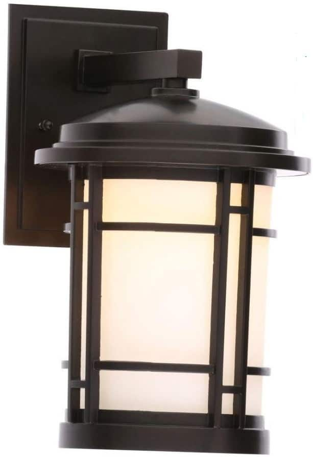 "*Died Fast, Sorry* World Imports 7"" Outdoor Integrated LED Wall Mount Sconce (Burnished Bronze) for $11.40 at Home Depot"