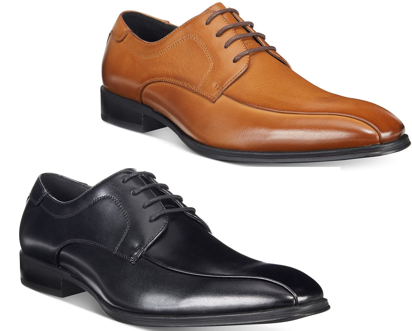 7d2e330f0 Alfani Men's Seth Bike Toe Derby Dress Shoes (Tan or Black) for $23.99 w