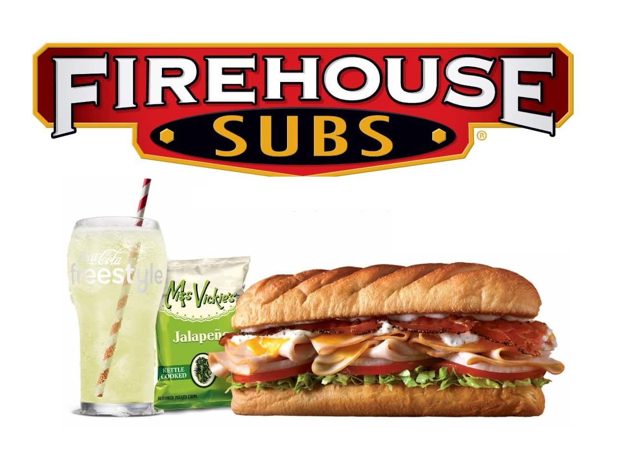 graphic relating to Printable Menu Firehouse Subs called Firehouse Subs: Absolutely free Medium Sub w/ Get of Medium or