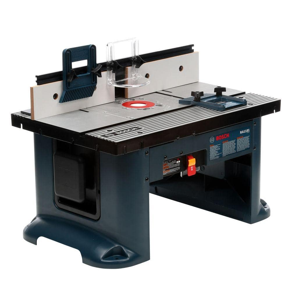 Bosch 15a Adjustable 27 X18 Aluminum Top Benchtop Router Table