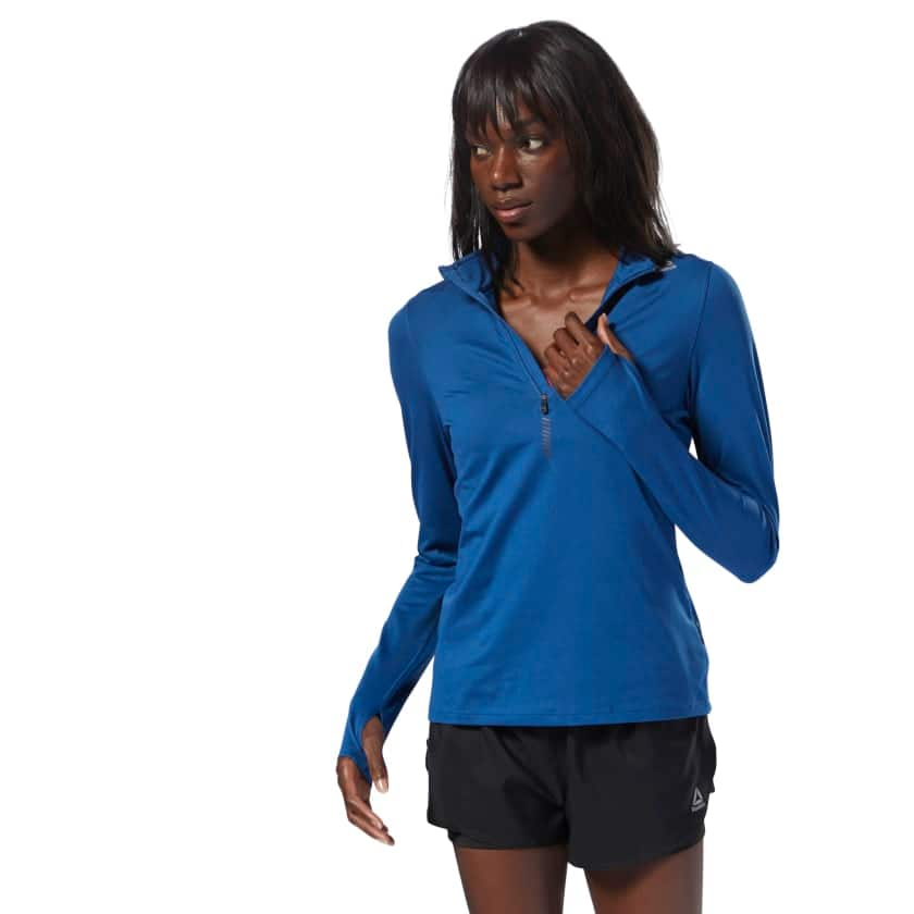 eb4676f9a4 Reebok: Women's 1/4 Zip Top (Blue) - Slickdeals.net