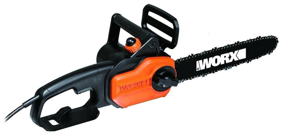 """WORX via eBay 20% off Coupon: WORX WG305 8-Amp 14"""" Electric Chainsaw w/ Auto-Tension (New, Re-boxed) for $23.99 + Free Shipping"""