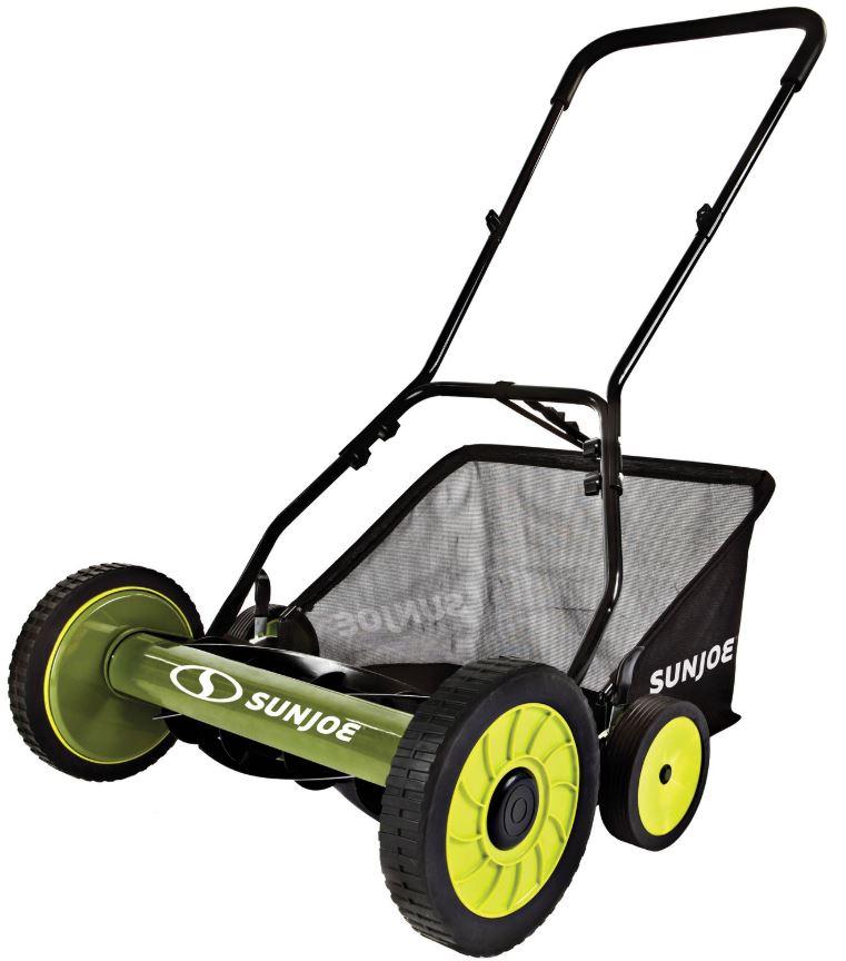 "Sun Joe 20"" Manual Reel Mower w/ Grass Catcher (Refurbished) for $55.99 + Free Shipping"