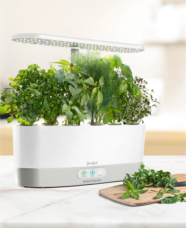 Aerogarden Goodful Harvest Slim Countertop Herb Garden W Seed Kit Expired