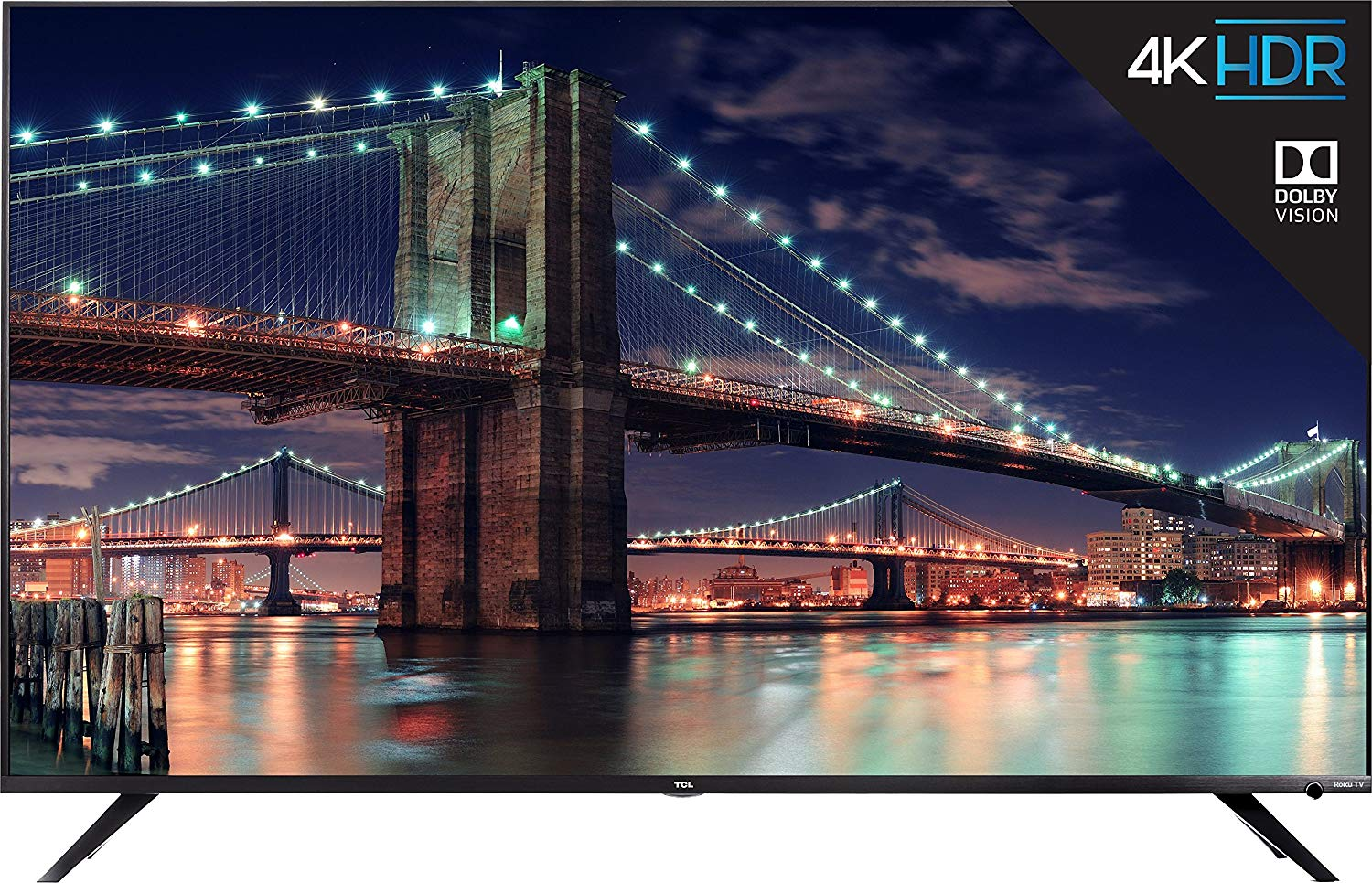"""65"""" TCL 65R617 4K UHD HDR Roku Smart LED TV (2018 Model) for $699.99 at Amazon"""