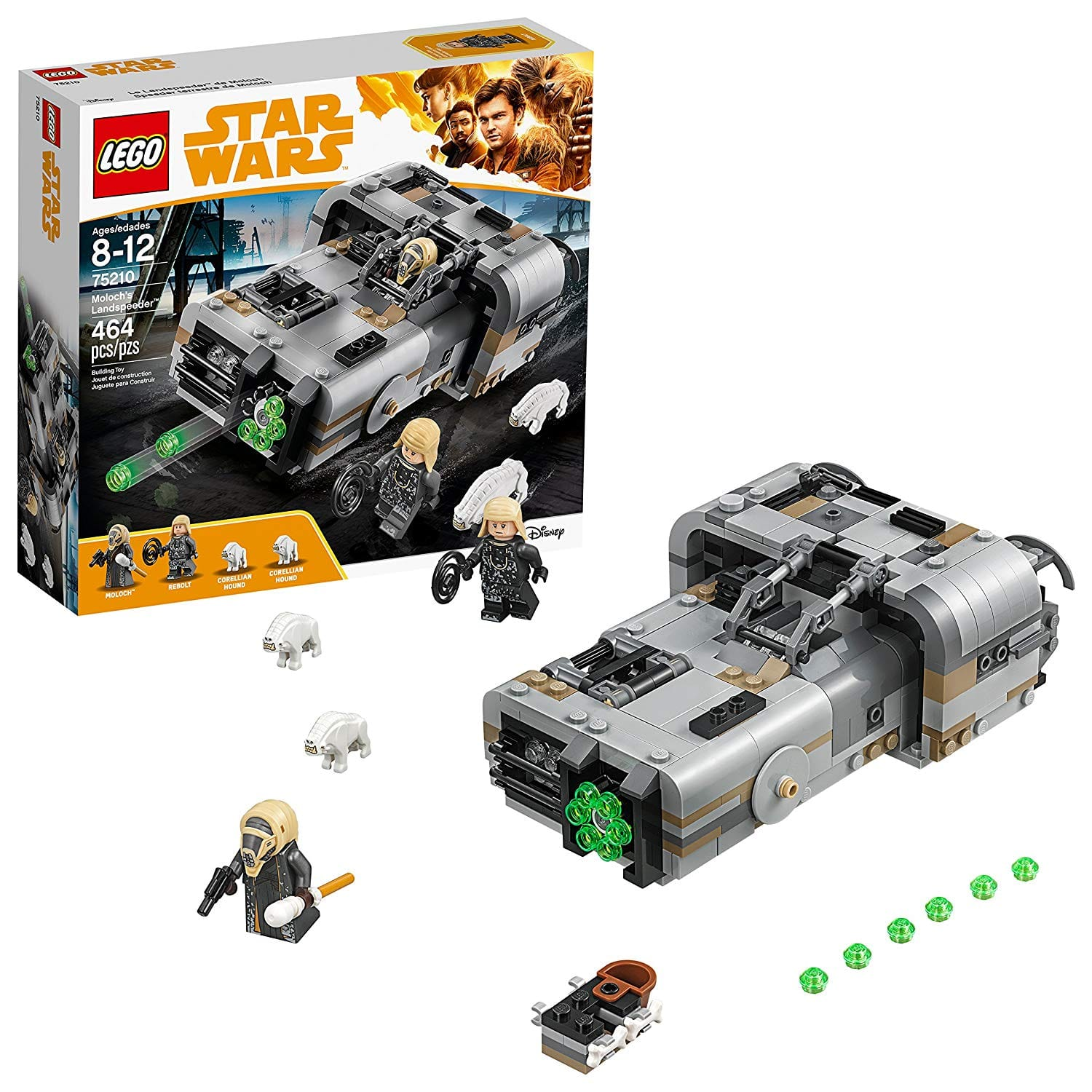 464-Piece LEGO Star Wars Moloch's Landspeeder (75210) for $21.53 at Walmart or Amazon