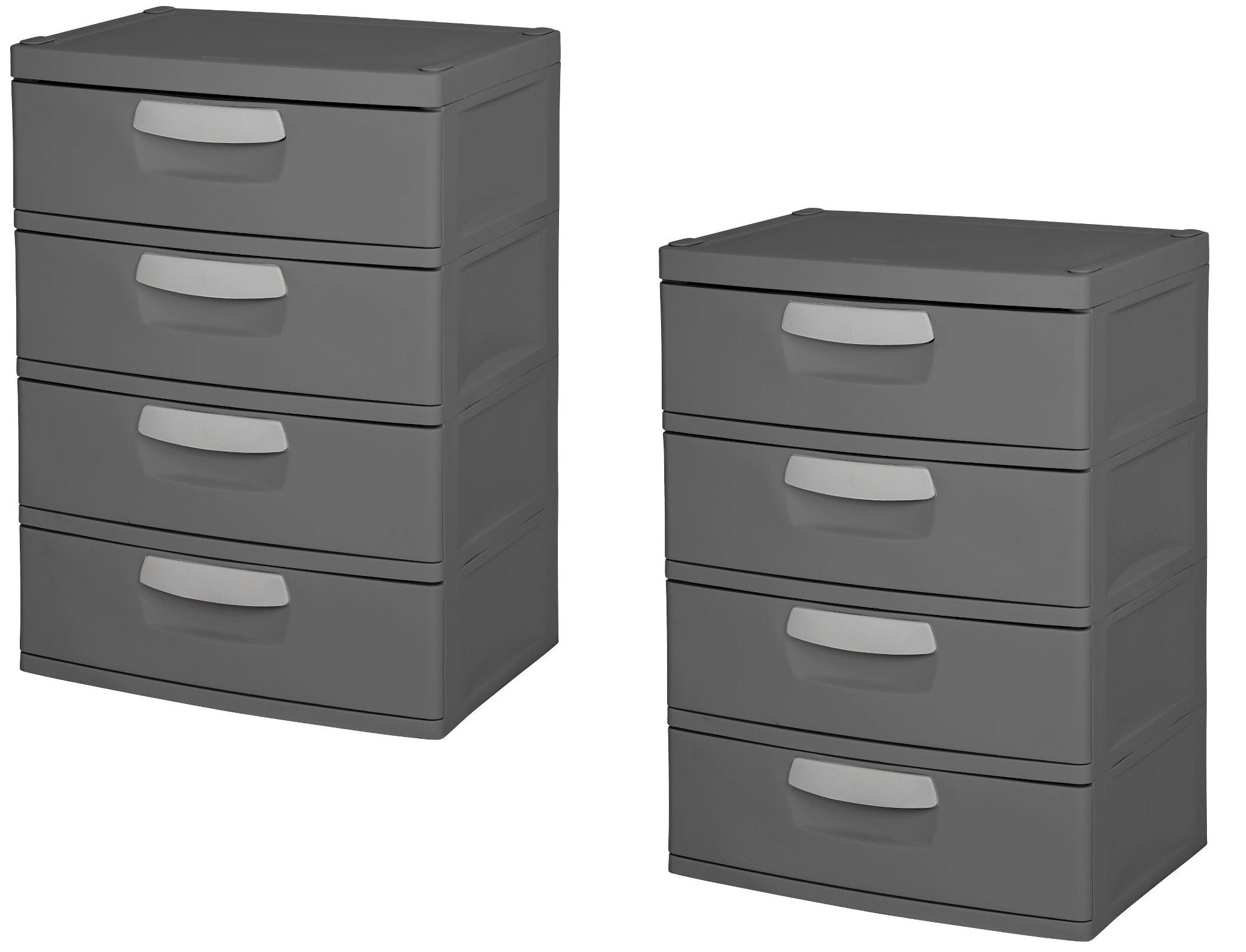 Fabulous Sterilite 4 Drawer Garage And Utility Storage Unit Download Free Architecture Designs Grimeyleaguecom