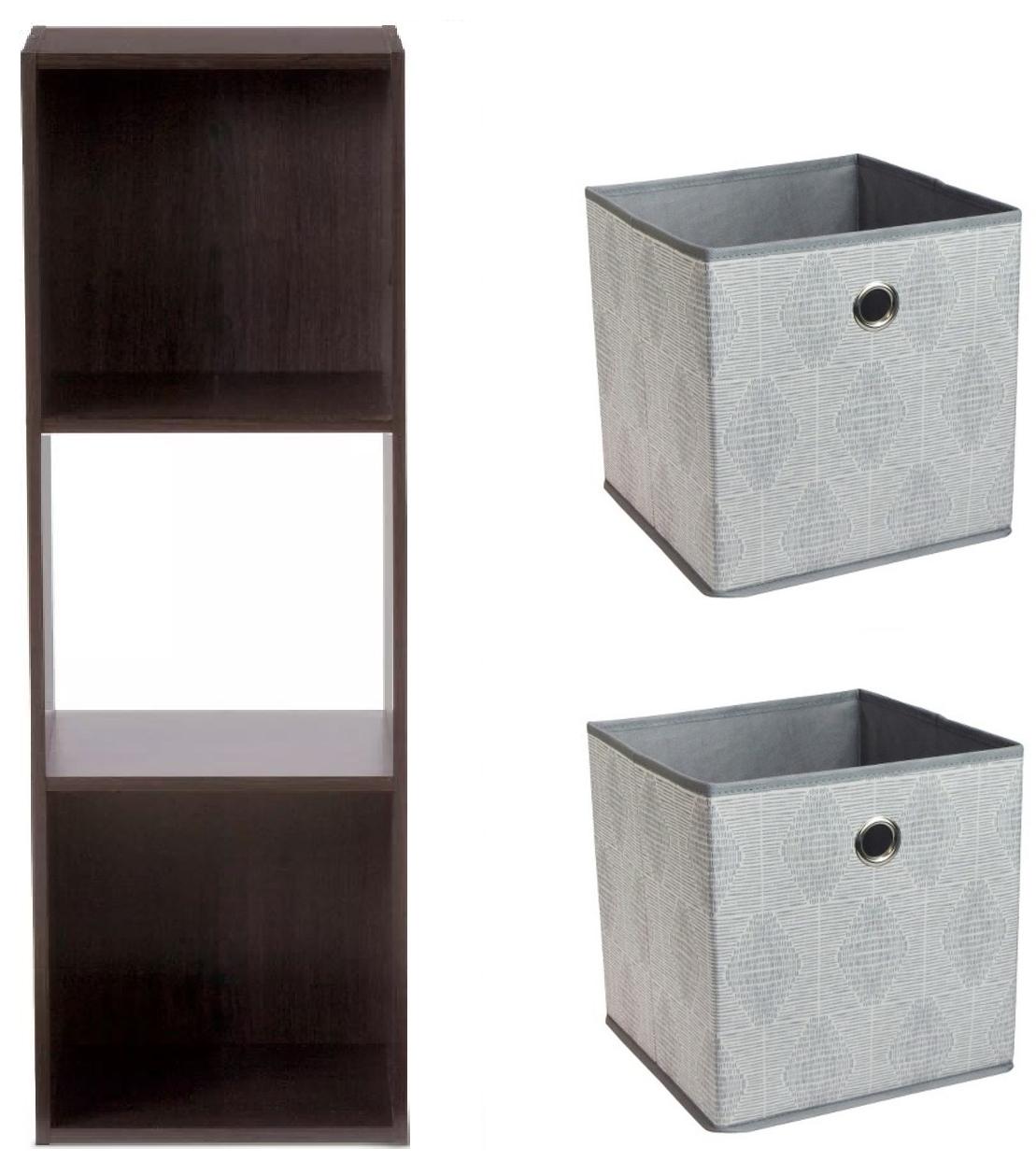 Room Essentials 3-Cube Organizer Shelf + 2-Ct Cube Storage