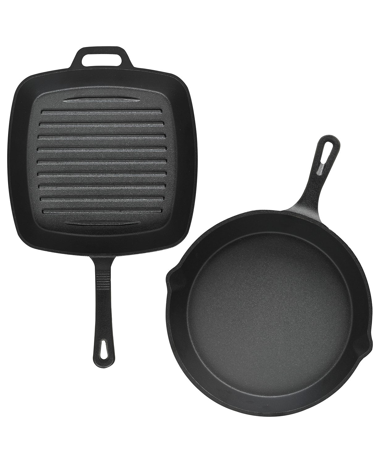 "Cast Iron Cookware: 10"" Skillet & 10"" Square Grill Set $14, Bacon Press & 10.25"" Grill Set $14 at Macy's (in-store pickup available)"