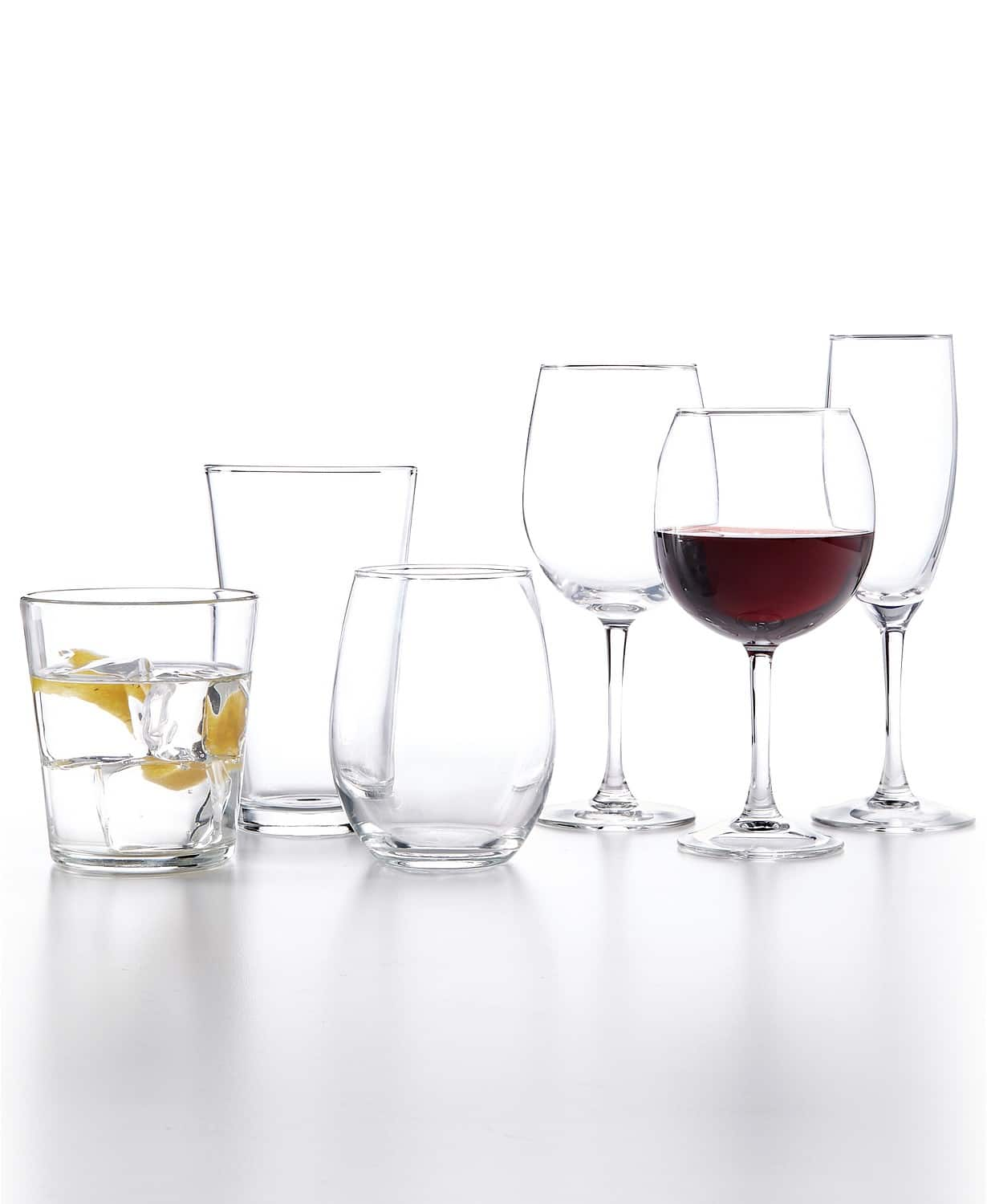 12-Piece Martha Stewart Essentials Glassware Sets (Tumblers, Wine Glasses, Flutes) for $9.99 at Macy's w/ in-store pick up