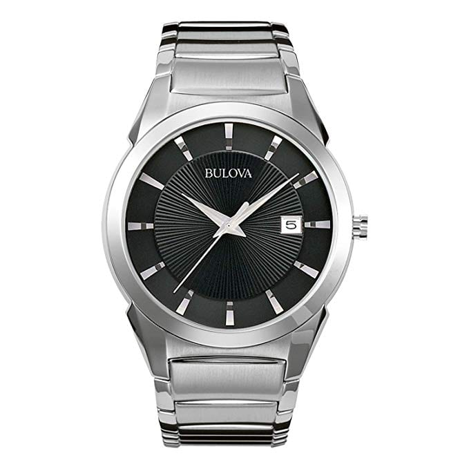 Bulova Watches at Amazon: Stainless Steel Classic Dress Watch $91, Stainless Steel Watch w/ Brown Leather Band $81 & More + Free Shipping