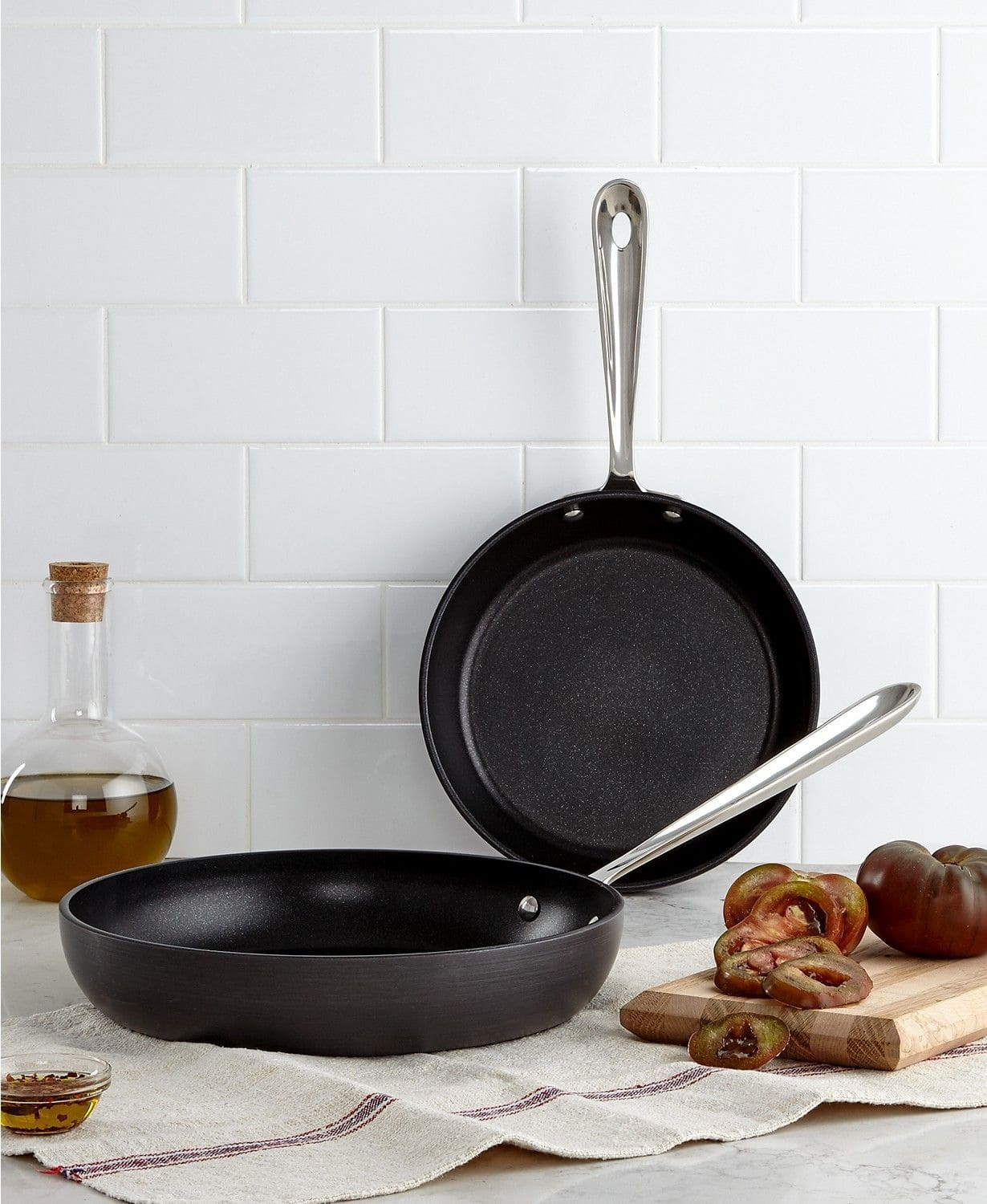 "All-Clad Hard Anodized 8"" & 10"" Fry Pan Set $33.59 at Macy's (in-store pick up is available)"