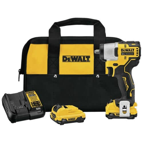 "DeWALT XTREME 12V MAX Brushless 3/8"" Cordless Impact Wrench Kit $84 + Free Shipping"