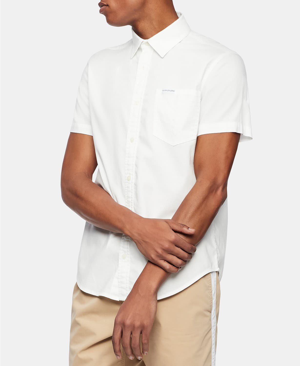 Calvin Klein Men's Button-Down Short Sleeve Shirts (select shirts) for $13.06 at Macy's (ship to store)