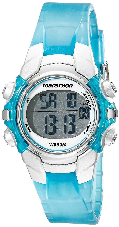 Marathon by Timex Unisex Digital Resin Strap Watch (light blue) for $3 at Amazon *Add-on Item*