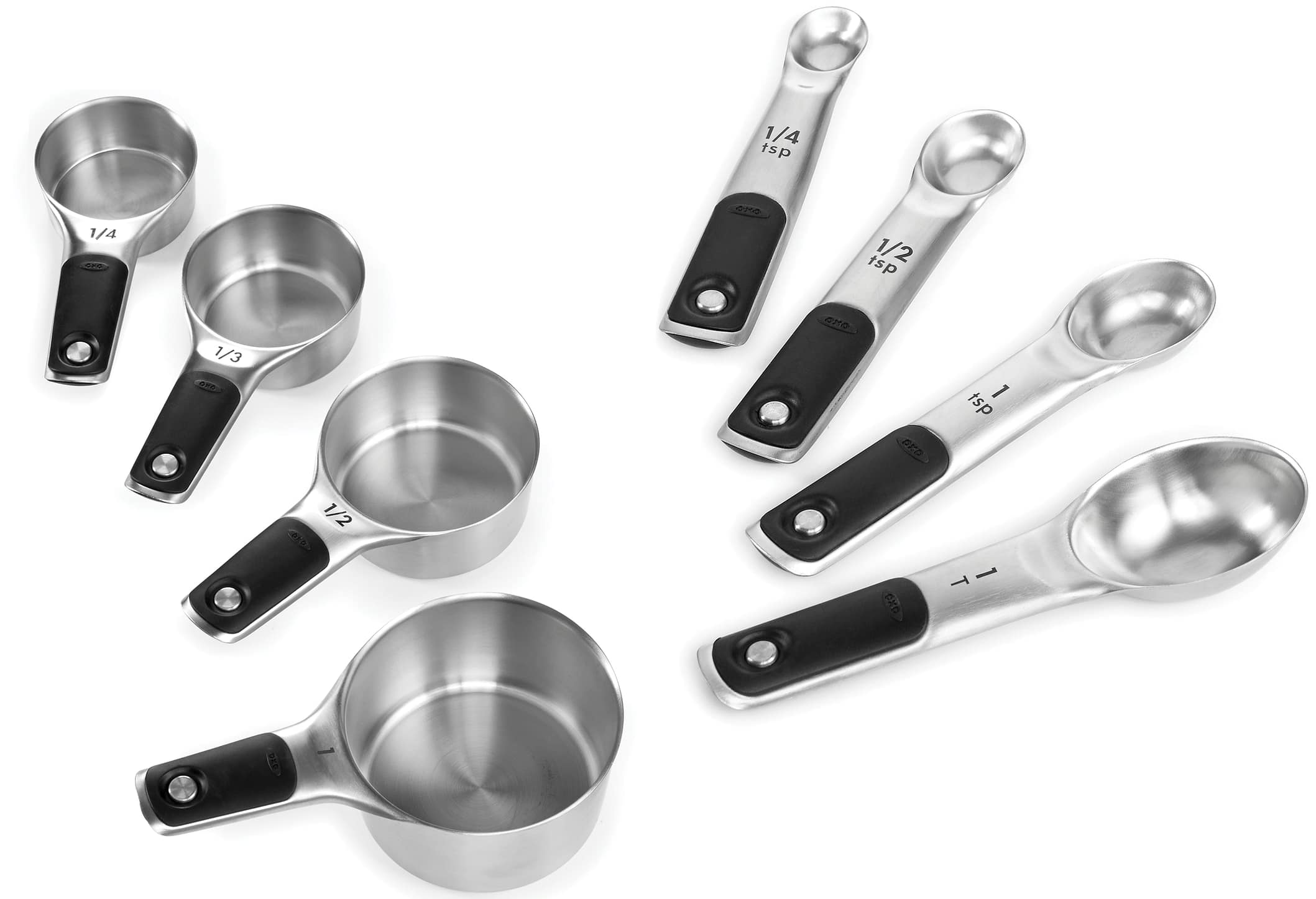 8-Piece OXO Good Grips Stainless Steel Magnetic Measuring Cups/Spoons (4-pc + 4-pc) for $19.98 at Macy's (pick-up in store)