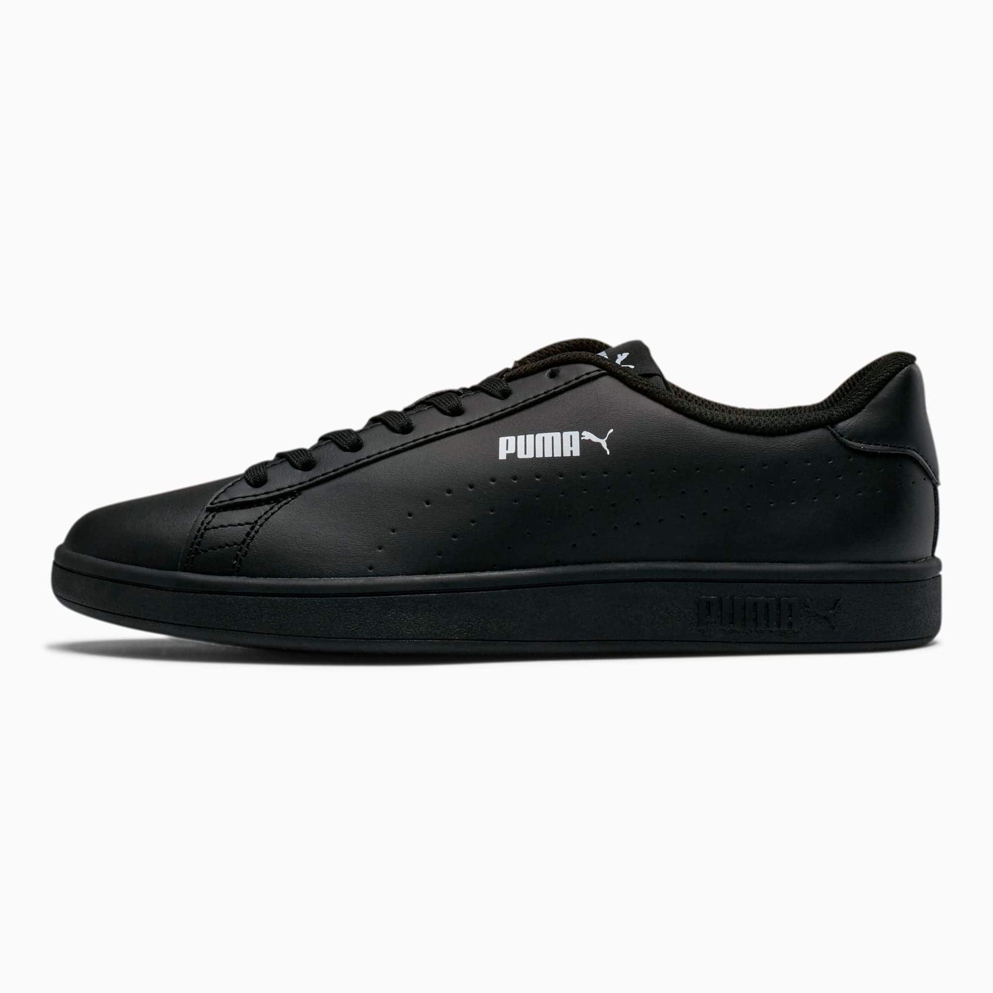 PUMA: Smash v2 Black Leather Sneakers $21, Essentials Men's Tee $6.99, Women's Divecat v2 Slides $10.49, Astro Kick Men's or Redon Move Shoes $21 & More + Free S/H on $35+