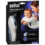 Braun ThermoScan 5 Ear Thermometer or Exergen Comfort Scanner Temporal Thermometer $15 After $20 rebate + Free shipping