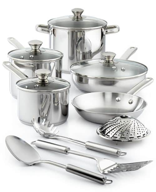 13-Piece Tools of the Trade Stainless Steel Cookware Set $29.99 + Free Shipping at Macy's