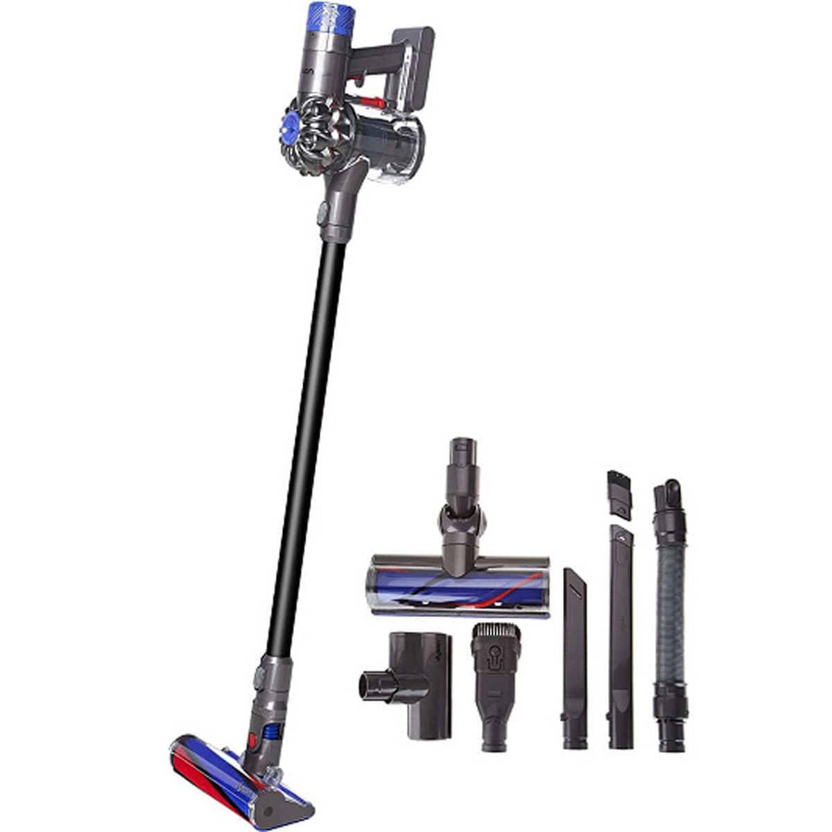 Dyson V6 Absolute Pro -- Gray with Flexi Crevice Tool and Extension Hose $330