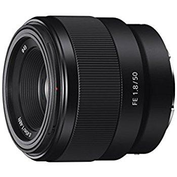 Sony FE 50mm F1.8 full frame E-Mount lens (SEL50F18F) - $198