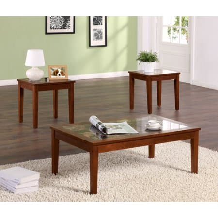 Sears: Dorel Home Furnishings 3-Piece Walnut Occasional Table Set Free Shipping for $52.19  + $15 SYW Points