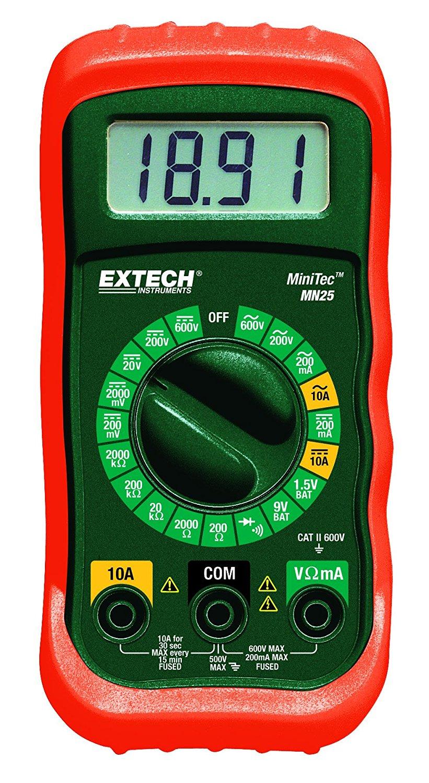 Extech MN25 MiniTec Digital MultiMeter [MN25 Multimeter] - Add-on - Amazon.com - $6.58