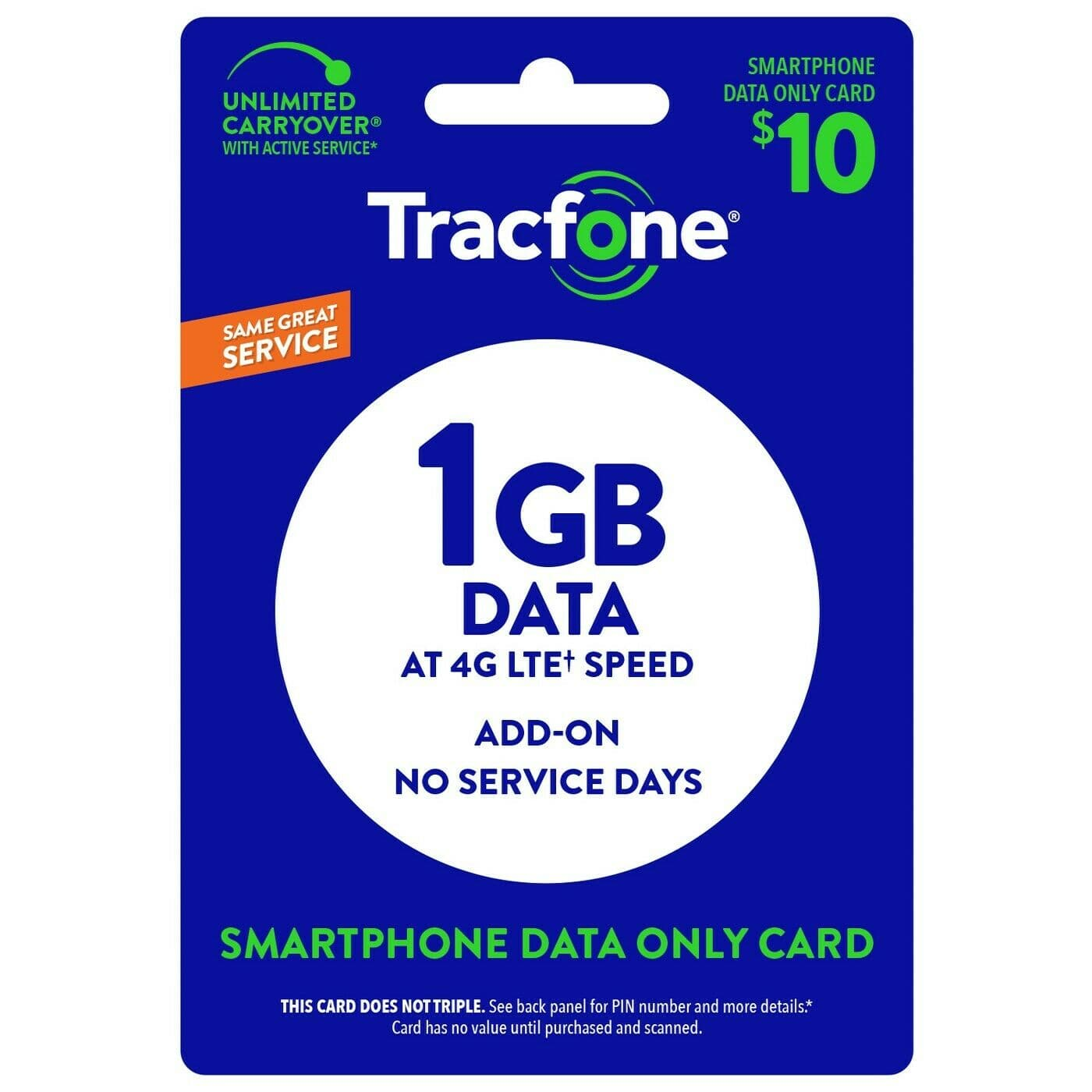 1GB Tracfone data plus 500MB free with promo code - $10 (or