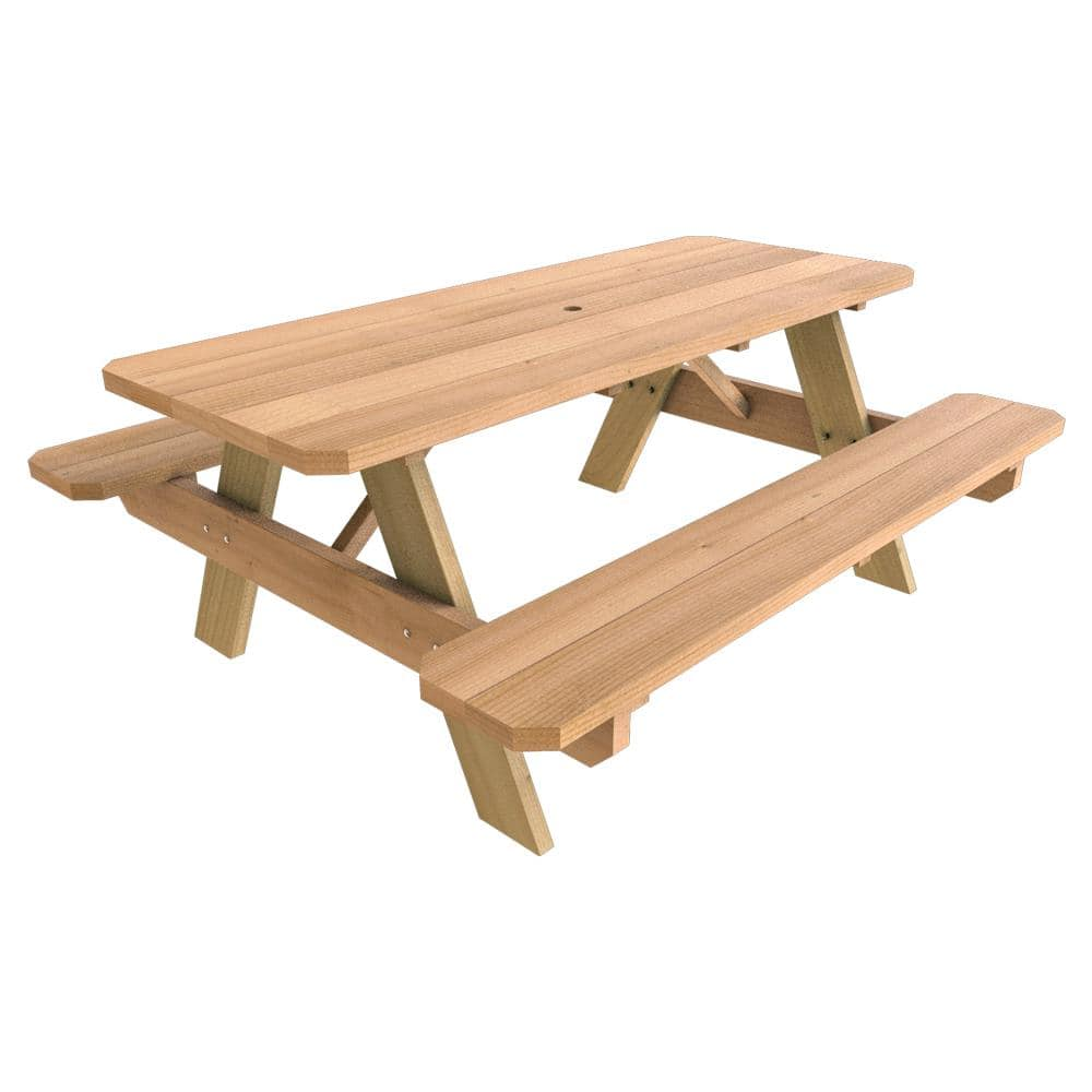 Beau 28 In. X 72 In Wood Picnic Table For $49.98 At Home Depot