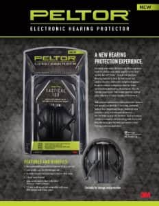 Peltor Sport Tactical 100 Electronic Hearing Protector (TAC100) - $46.75 Amazon free 1 day prime