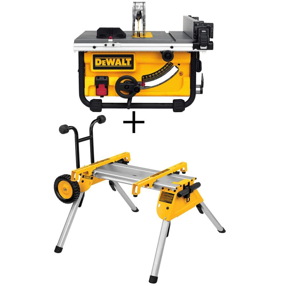 Dewalt 15 Amp 10 In Compact Job Site Table Saw W Stand