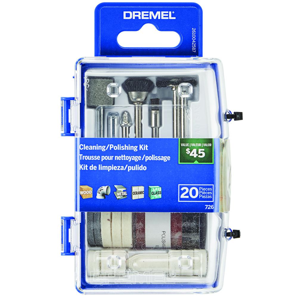 Dremel 726-02 20 PC Cleaning/Polishing Rotary Accessory Micro Kit - $3.85