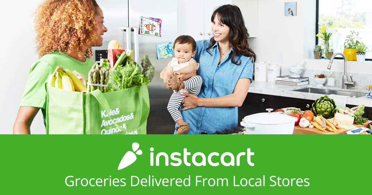 $15 for $40 Groceries Delivered from Local Stores by Instacart (62% Off for First Time Customers)