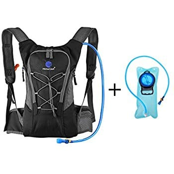 Hydration Pack Backpack with 2 Bladder,Lightweight Water Reservoir Bag Backpack for Cycling Mountain MTB Bike Hiking Camping $13