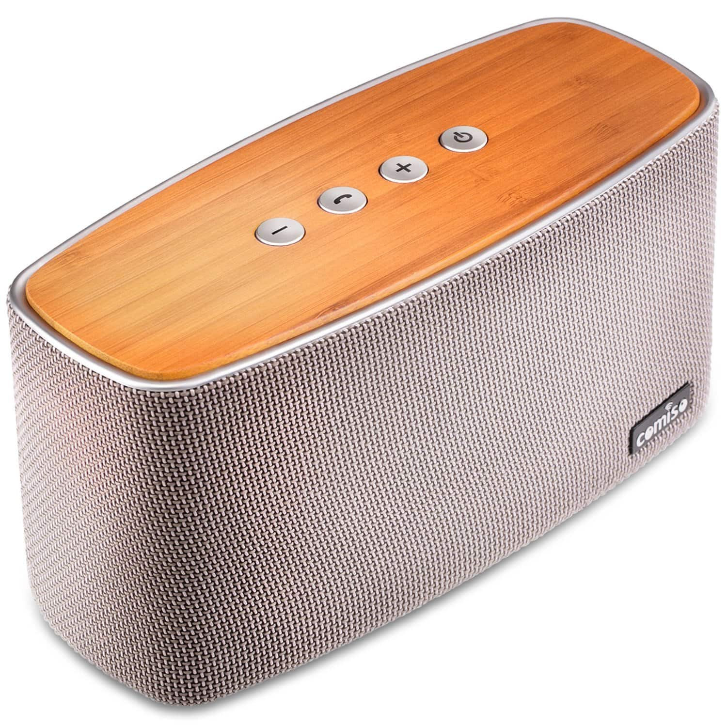 COMISO 30W Bamboo Wood Bluetooth Speaker with Subwoofer- $29.99 AC @ Amazon