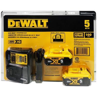DeWALT Starter Kit With 2 Batteries, Charger & Bag $139.99