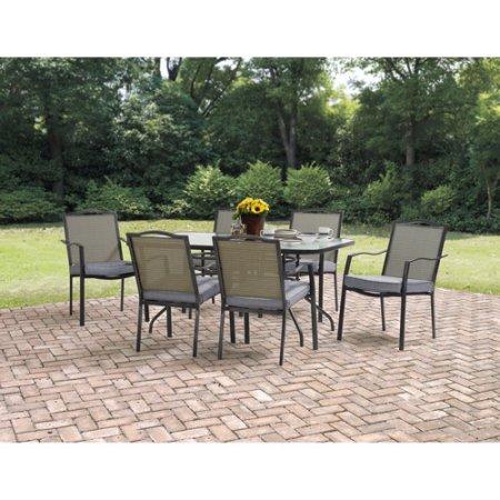 Mainstays Oakmont Meadows Patio Dining Set, Burlap Walmart $159